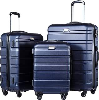 Luggage 3 Piece Set Suitcase Spinner Hardshell Lightweight TSA Lock 4 Piece Set