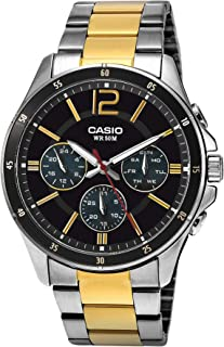 Casio - Mens Watch - MTP-1374SG-1A, Black