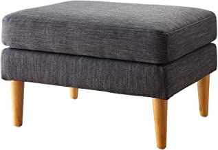 Convenience Concepts Designs4Comfort Marlow Mid Century Ottoman, Gray Fabric