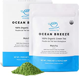 Organic Matcha Green Tea Powder - USDA & FSSC 22000 (Food Safety System Certification) - 100% Pure Vegan Hand Picked Organic Green Tea Superfood, Authentic South Korean Origin (1.2 oz / 34g)