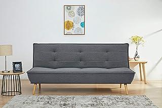Marca Amazon  - Movian Scutari - Sofá cama de tres plazas, 194 x 95 x 89, gris oscuro