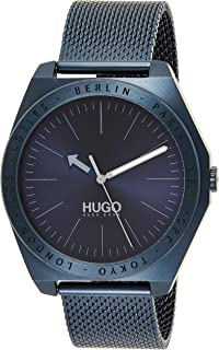 Hugo Boss Men's Blue Dial Ionic Plated Blue Steel Watch - 1530109