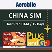 China SIM Card 15days Unlimited Data (6GB at 4G LTE high Speed) in Mainland China and Hong Kong, Free Firewall Pass. Use FB, Whatsapp, Google Without VPN