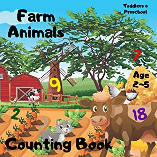 Farm Animals Counting Book Age 2-5: Activity Book For Kids - Count 1 - 20 & Spot The Difference Farm Country Life | Children 2, 3, 4 or 5 Year Old Toddlers ... Kindergarten Girls & Boys (Counting Ebook)