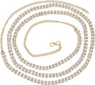 Sanjog Women's Stylish Double Line Kundan Kamarband Belly Chains for Women