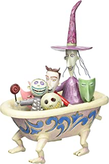 """Disney Traditions by Jim Shore """"The Nightmare Before Christmas"""" Tub Stone Resin Figurine, 8"""