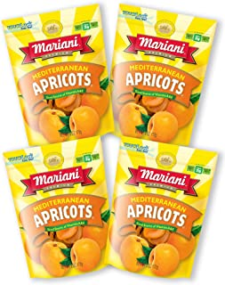 Mariani Mediterranean Dried Apricots -6oz (Pack of 4) –Delicately Sweet with No Sugar Added, Gluten Free, Vegan, Fat Free,...