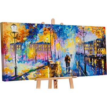 YS-Art Acryl Gemälde Freundschaft Handgemalte Bilder Leinwand Bild Kunst