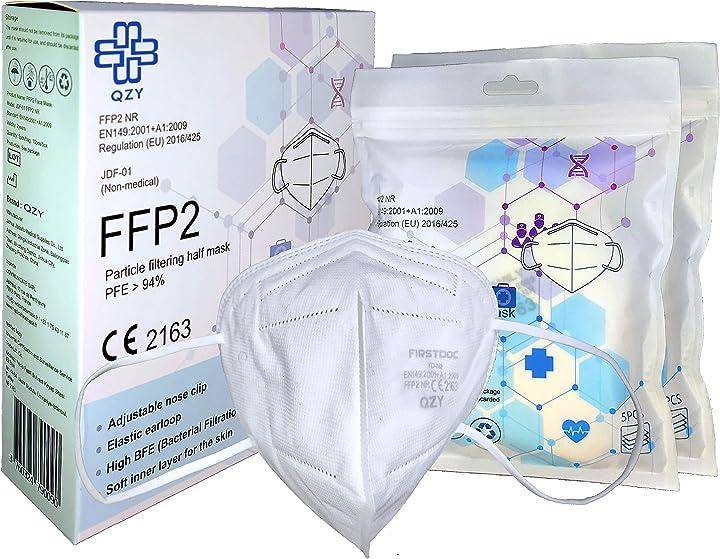 Mascherine ffp2 certificate ce - 10 pezzi qzy YD-N2