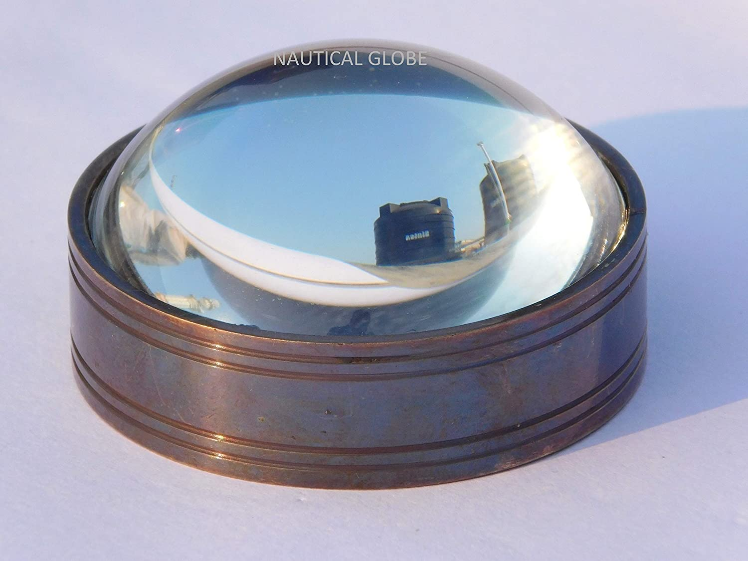 KHUMYAYAD 50 mm White Dome magnifing Magnifier Challenge the lowest price of Japan ☆ Lance Glass Brass 2021 spring and summer new