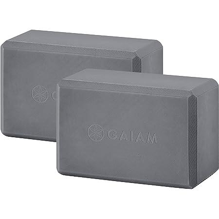 Gaiam Yoga bloque 2-Pack, Black (Premium)