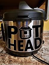 Pot Head Rectangle   Instant Pot   Black Vinyl Sticker