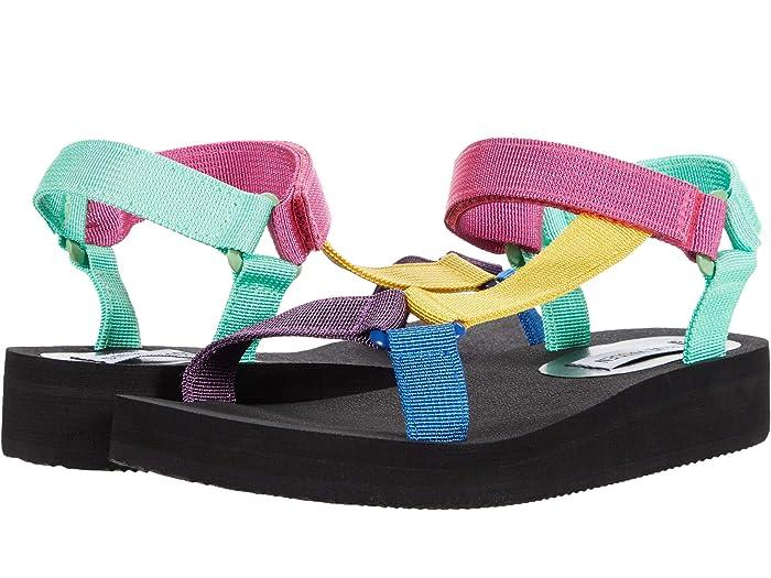 Vintage Sandals | Wedges, Espadrilles – 30s, 40s, 50s, 60s, 70s Steve Madden Henley Sport Sandal Multi Womens Shoes $59.95 AT vintagedancer.com