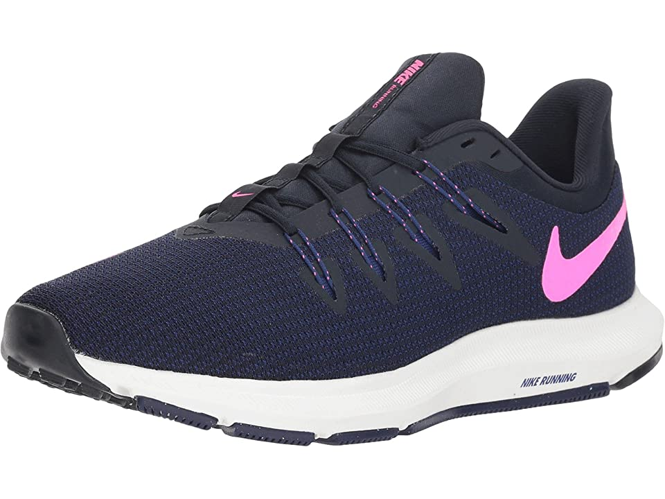Nike Quest (Dark Obsidian/Pink Blast/Deep Royal Blue) Women's Shoes, Black