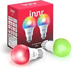 Innr Smart Bulb Color A19, Works with Philips Hue, SmartThings, Alexa, Google Home (Hub Required), Dimmable RGBW LED Light...
