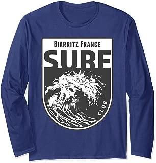 Biarritz, France Surf Souvenir Surfing Vacation Gift Long Sleeve T-Shirt
