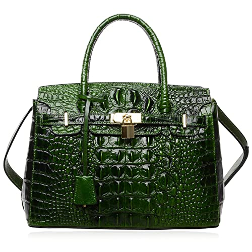 PIJUSHI Women s Handbags Crocodile Top Handle Satchel Bags Designer Padlock  Handbags For Women 0bd64e14154d0
