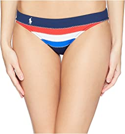 Blocked Sail Stripe Seamed Taylor Hipster Bottoms