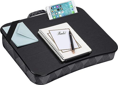 """LapGear Designer Lap Desk for 15"""" laptops Gray Argyle"""