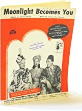 Moonlight Becomes You in Road to Morocco featuring Bing Crosby, Bob Hope, Dorothy Lamour ; Vintage Vocal, Piano, Chords Sh...