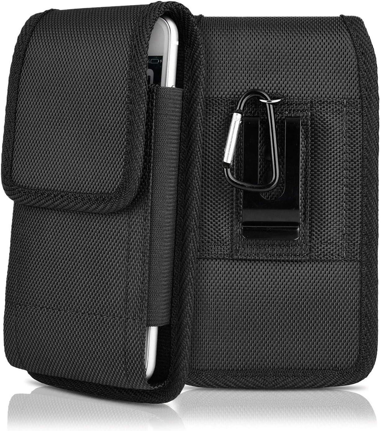 Nylon Pouch Cell Phone Holster for iPhone 8/SE2, kiwitatá Rugged Vertical Belt Clip Holster Case Pouch Holder for iPhone 7 6S 6 iPhone SE 12 Mini