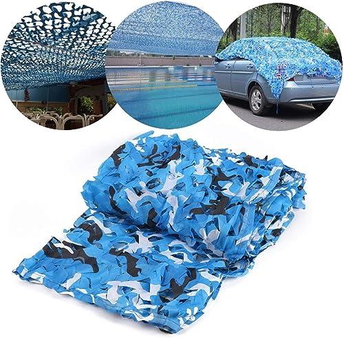 JJWZW Filet de Camouflage Militaire Léger, Filet de Camouflage, Filet de Camouflage Bleu 5  6m 6  8m, Tir de Camouflage de Prougeection Grand Camping étanche Caché (Taille   4  8M(13.1  26.2ft))