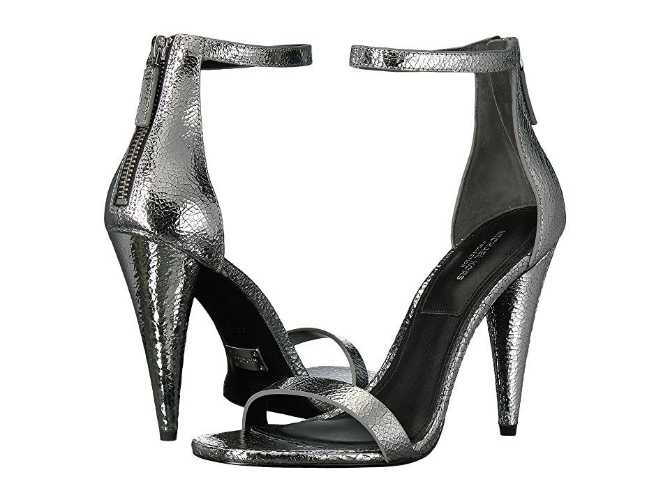 Michael Kors Ramsey (Silver Cracked Metallic Leather) High Heels