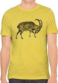 Austin Ink Apparel Unisex Fine Jersey Ibex Mountain Goat Print Soft T-Shirt Top