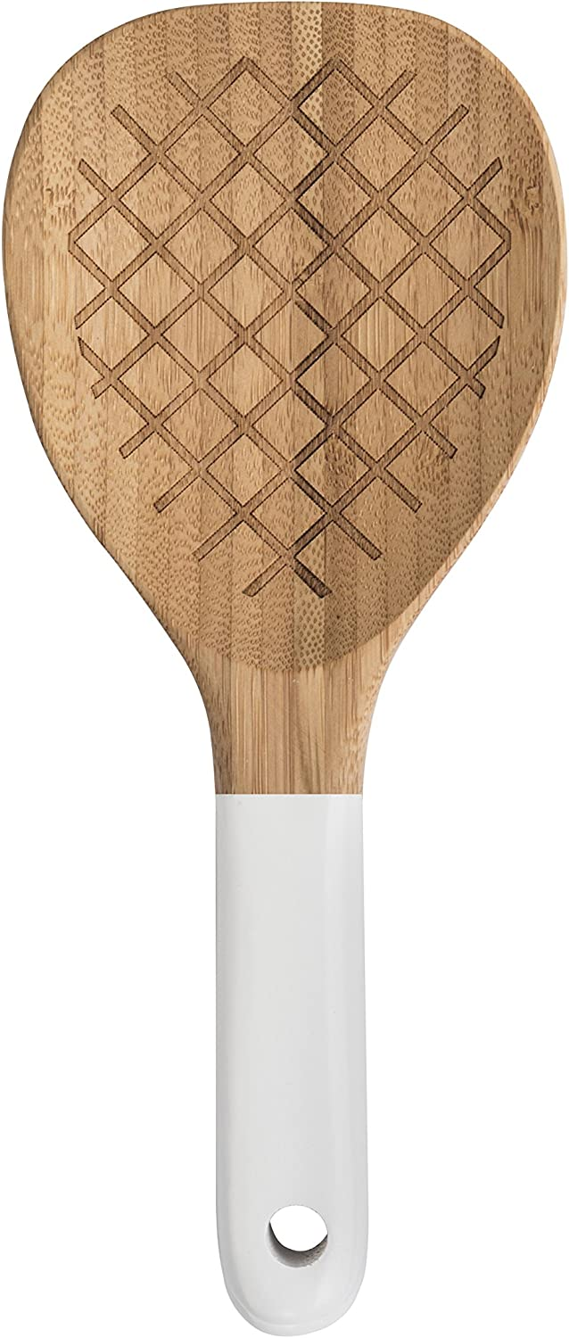 Pebbly NBA067 bamboo serving spoons white bamboo beige 22 x 2 x 3 cm