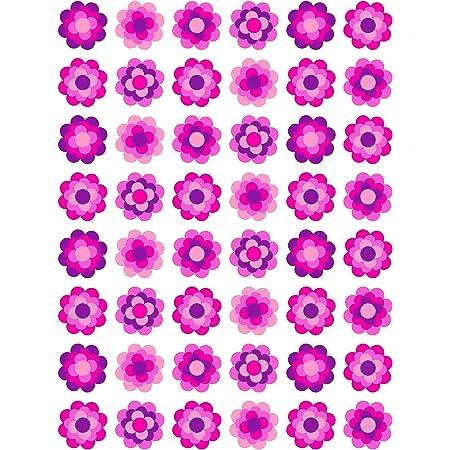 60 Prilblumen Aufkleber Special Pink Edition 30 Mm Retro Style 70er Jahre Kult Sticker Bürobedarf Schreibwaren