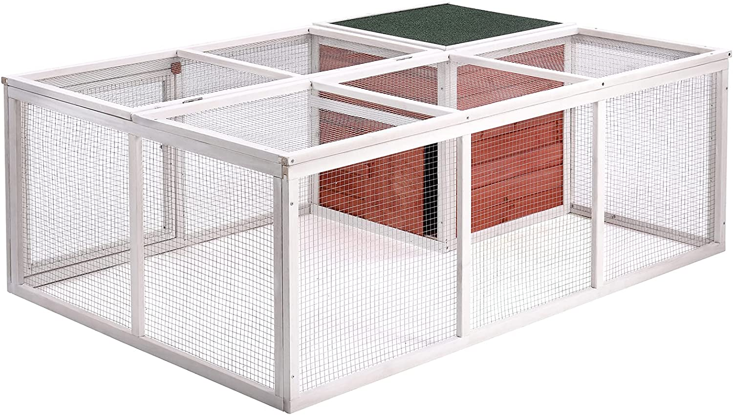 NUZYZ cheap High order Pet House for Small Animals Hutch 1 Durable He Set Rabbit