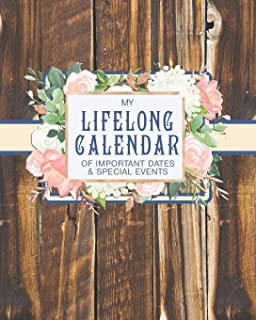 My Lifelong Calendar of Important Dates & Special Events: Christian Perpetual Calendar Date keeper Reminder for Birthdays, Anniversaries and Memories with Bible Verses