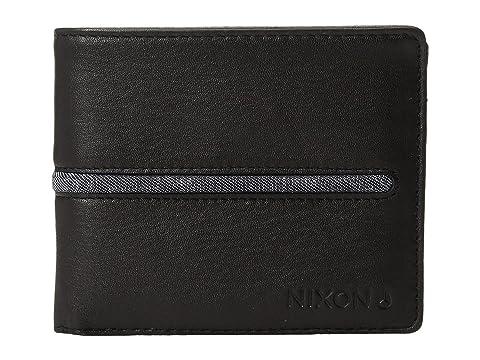 Nixon Billetero negro de cosido negro ID monedero Axxv8Tqf