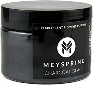 MEYSPRING Charcoal Black Epoxy Resin Color Pigment - 50 Grams - Great for Art Resin, Ecopoxy, UV Resin