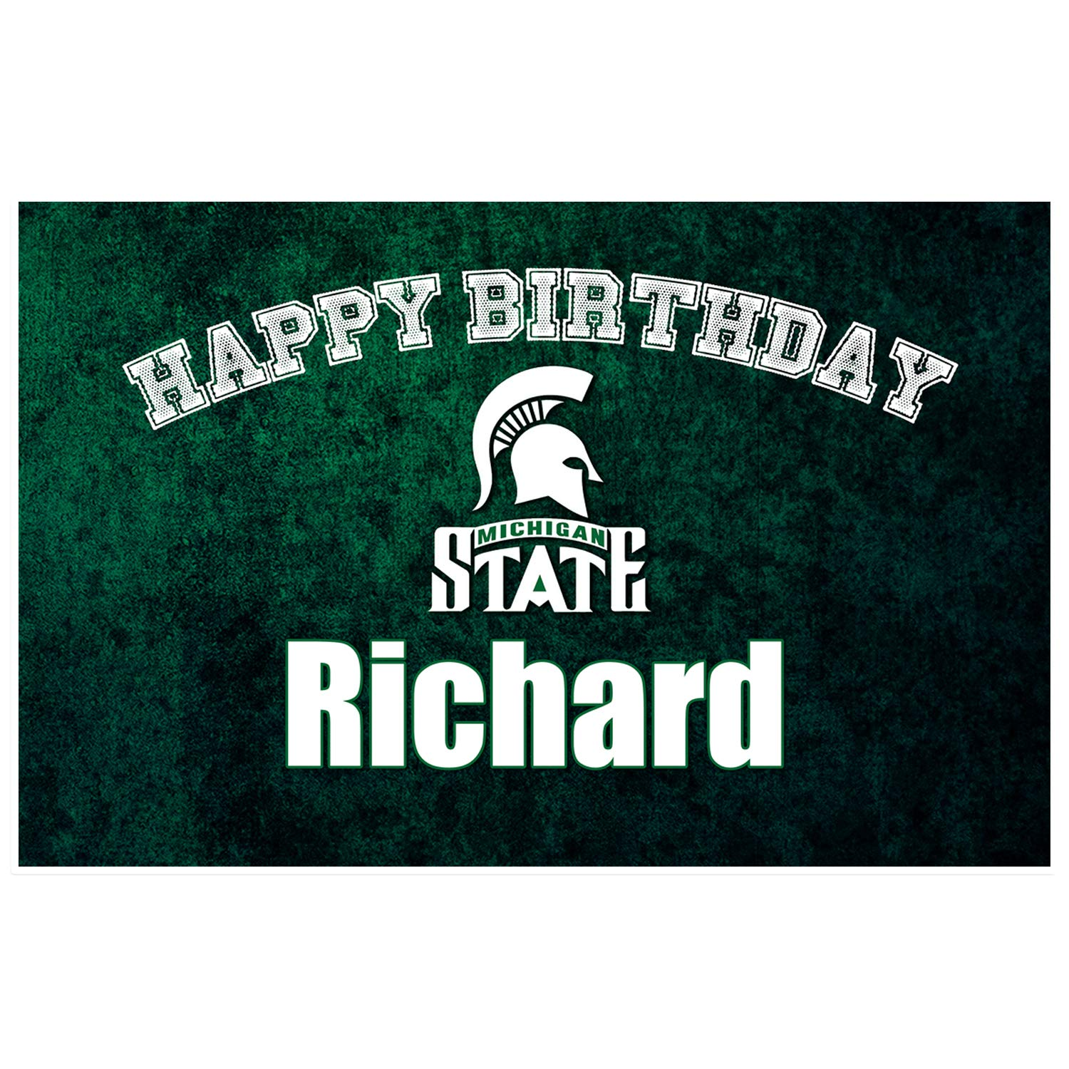Michigan State Football Birthday Dec Placemat Table Easy-to-use Don't miss the campaign Personalized