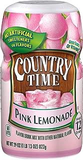 Country Time Pink Lemonade Drink Mix, Caffeine Free, 29 oz Jar