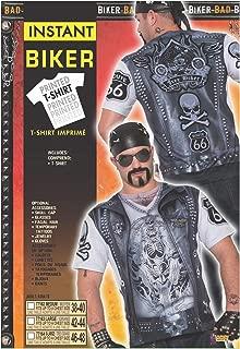 Men's Printed Biker Vest
