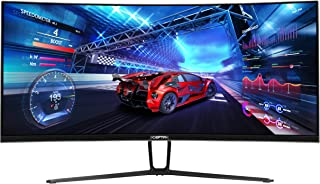 Sceptre 35 inch Curved Ultrawide 21:9 LED Gaming Monitor QHD 3440x1440 Frameless FreeSync HDMI DisplayPort Up to 100Hz, Ma...