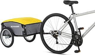 Schwinn Day Tripper Cargo Bike Trailer, Folding Frame, Quick Release Wheels, Red,Yellow