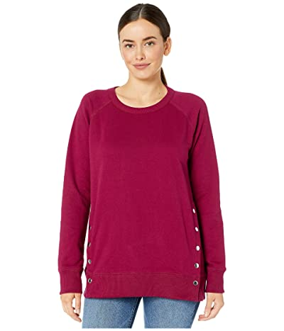 Jag Jeans Kristen Side Snap Crew Sweatshirt (Wild Berry) Women