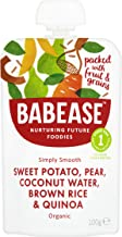Babease Stage 1 Sweet Potato Pear Rice & Quinoa 100g (Pack of 8)