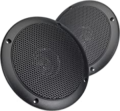 Magnadyne WR45B 5 Inch Waterproof Marine, Boat, Hot Tub, Outdoor Speaker with Integrated Plastic Grill (Sold as a pair in Black)