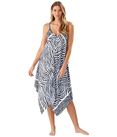 Tommy Bahama Zanzibar Zebra Engineered Scarf Dress Cover-Up
