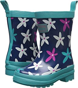 Hatley Kids - Graphic Flowers Rain Boots (Toddler/Little Kid)