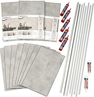 DumaWall Shower and Tub Surround Kit (Frost Nickel)