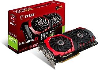 MSI GeForce GTX 1060 Gaming X 3G - Tarjeta gráfica (refrigeración Twin Frozr Vi, Backplate, LED RGB, 3 GB Memoria GDDR5, VR Ready)