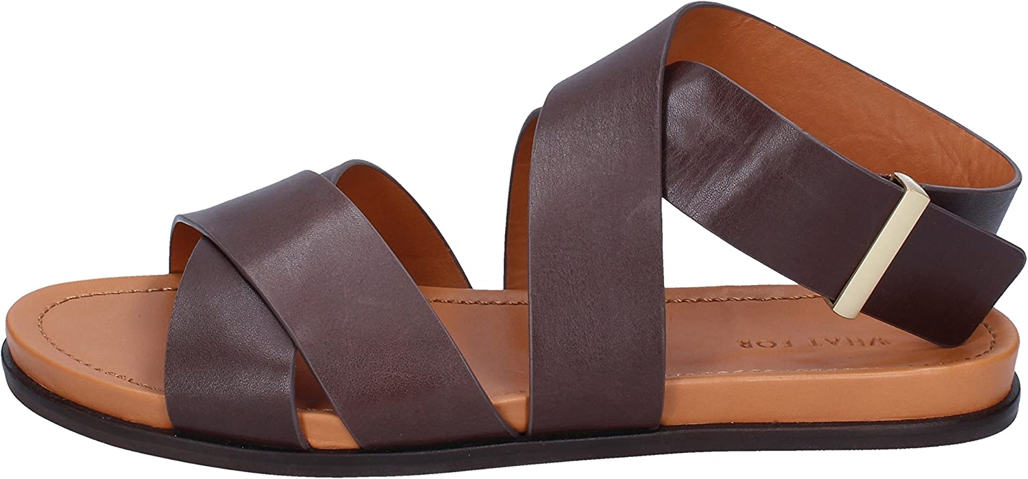 WHAT FOR Sandals Womens Leather Brown