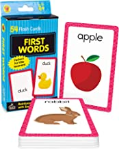 Carson Dellosa - First Words Flash Cards - 54 Cards for Phonics, Sight Words, Letter Recognition, Early Development for Pr...