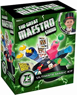 Amav Toys Magic Hat with 75 Tricks For Kids - Create Magical Show with Easy to Learn 75 Magic Tricks - All-Inclusive Magic Set - Perfect For Beginners - Best Christmas Present For Magicians Aged 7+