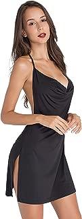Lomantise Women Backless-Nightclub Dress Assless Low-Cut